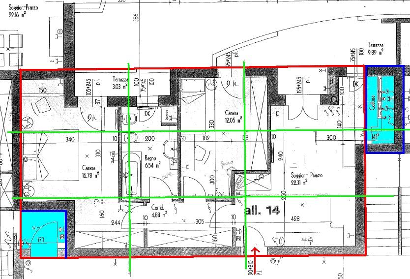 Affordable la piantina stata divisa in settori with planimetria casa - Disegnare piantina casa ...