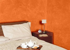 Camera da letto con i colori della Terra